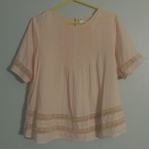 Old Navy Tops - ❤ { OLD NAVY } | Blush Tunic w| Crochet Detail